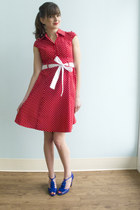ruby red polka dots Hepcat Dress in Cherry dress