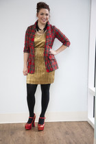 gold gold metallic Discotheque Savvy Dress dress
