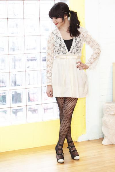 Ivory Dress Shoes on Ivory Modcloth Dress Black Modcloth Shoes Black