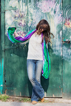 deep purple handmade silk Kish and Evie scarf