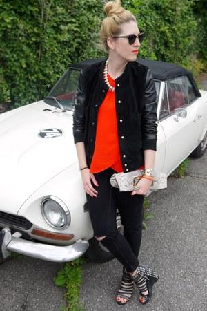 Mango jacket - Michael Kors bag - Ray Ban sunglasses - Zara blouse