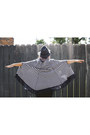 Navy-poncho-vintage-cape-black-black-pants-flying-monkey-jeans