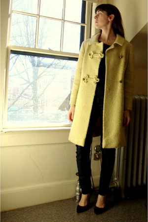 light yellow vintage coat
