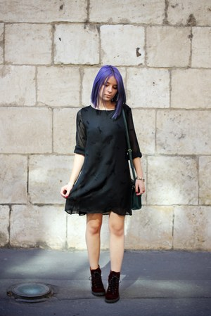 velvet h&m divided boots - second hand dress