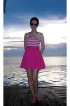 pink Topshop dress - pink Shoes must buy shoes - green Topshop swimwear