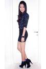 Black-forever-21-dress-black-topshop-jacket-black-aldo-shoes-blue-socks-