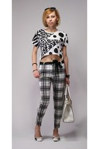 oversized Atmosphere top - checkred Top Shop pants