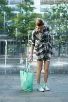 silver ted baker dress - aquamarine plastic Atmosphere bag
