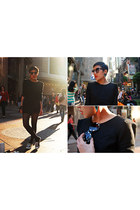 Stylenanda dress - Zara sunglasses - Converse x CDG sneakers