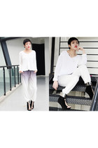 H&M sweater - online pants - Jeffrey Campbell wedges