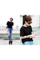 Stylenanda jeans - Prada sunglasses - Stylenanda t-shirt