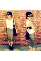 Topshop skirt - Alexander Wang bag - Zara top - Topshop wedges