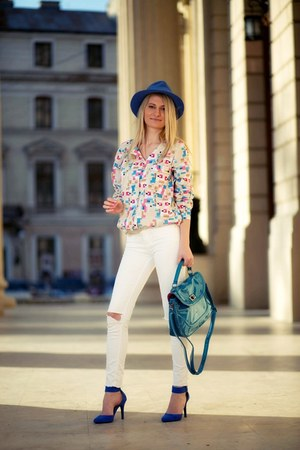 Vero Moda shirt - meli melo bag - new look heels