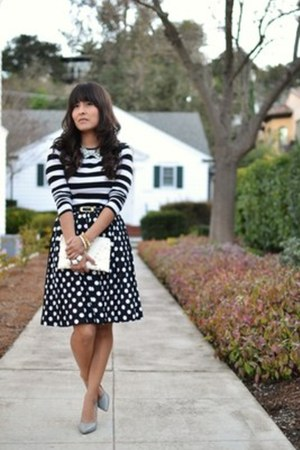 Forever 21 bag - vintage skirt - Nine West pumps - Forever 21 top