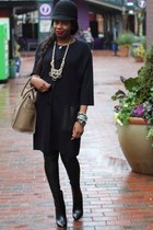 H&M sweater - jill sanders boots - saks hat - Celine bag