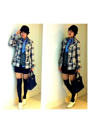 Forever 21 jacket - vintage shirt - vintage from bangkok bag - Uniqlo cardigan -