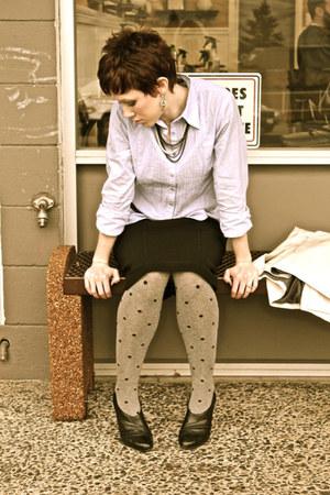 HUE tights - Cabi blouse - Target belt - Kenneth Cole necklace - Cabi skirt - Re
