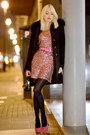 Black-valentino-shoes-bubble-gum-verso-dress-black-sandro-ferrone-coat