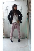 Zara jacket - Topshop shirt - Topshop pants - etam boots - Topshop purse - Vogue