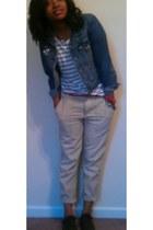 red Forever 21 belt - brown Rack room shoes shoes - blue jean Levis jacket
