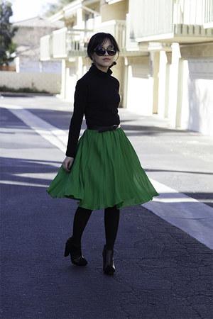 banana republic skirt - Victorias Secret boots - Target shirt