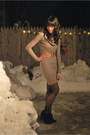 Black-seychelles-boots-camel-lord-taylor-dress-black-bloomingdales-tights-
