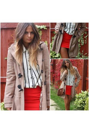 Primarkk coat - H&M shirt - H&M skirt