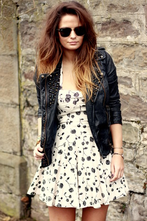 topshop dress - alllsaints jacket