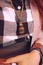 Peach-zara-blazer-navy-jcrew-blouse-gray-h-m-skirt-urban-outfitters-tights