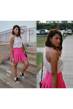 H&M skirt - French Connection bag - Forever 21 top