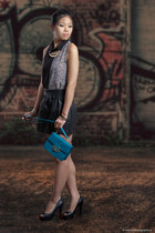 Charles & Keith bag - g-21 skirt - BCBGeneration heels - material girl top