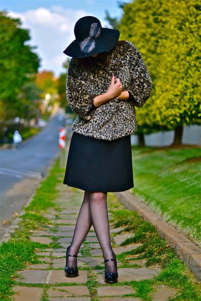 George dress - vintage coat - new look heels