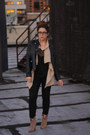 Light-brown-zara-boots-dark-khaki-gap-sweater-black-urban-outfitters-shirt