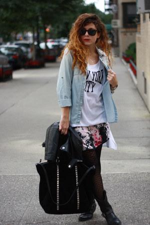 black Mossimo boots - bubble gum worn as a skirt Zac Posen dress