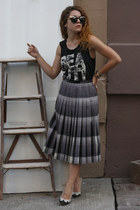 purple Marc Jacobs skirt - dark gray Double zero shirt