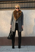 French Connection coat - Michael Kors bag - Topshop pants