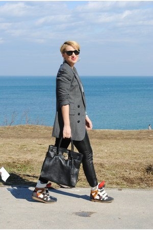 Michael Kors bag - pull&amp;bear blazer - H&amp;M pants