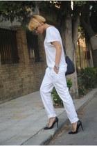 Zara heels - H&M t-shirt - Sfera pants