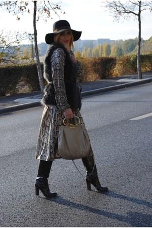 H&M dress - Dolce&Gabbana boots - H&M hat - Miu Miu bag - H&M vest