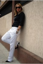 black Zara shoes - black Kenneth Cole shirt - black Topshop sunglasses - white d