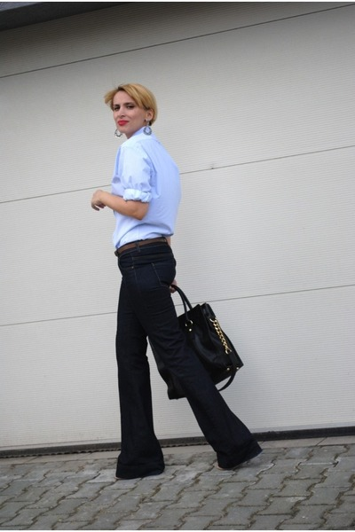 Zara jeans - Burberry shirt - Michael Kors bag