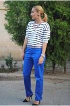 Zara shoes - H&M blouse - ck pants