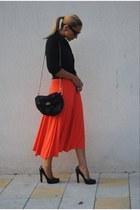 DSquared shoes - Mango dress - Kenneth Cole shirt - Zara bag