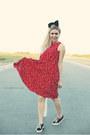 Black-levis-shoes-red-my-michelle-dress-black-accessories