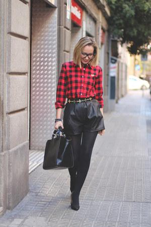 swarovski bracelet - Ebay shirt - Zara bag - Zara shorts - zeroUV glasses