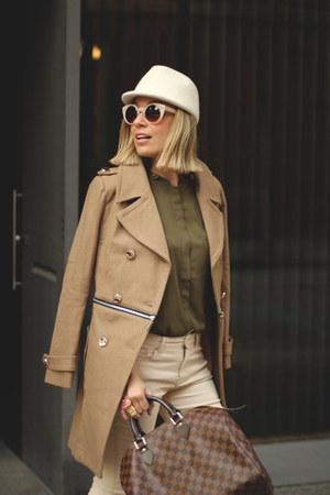 Ebay coat - Alpe Shoes boots - Zara jeans - kling hat - Louis Vuitton bag