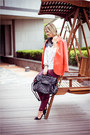 Hot-pink-sheinside-blazer-black-chicwish-bag-brick-red-h-m-pants