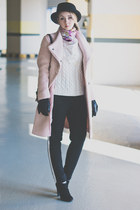 black Rebecca Minkoff bag - light pink Choies coat - black Forever 21 pants