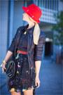 Nude-casio-watch-navy-jovonna-london-dress-red-h-m-hat