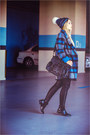 Black-oasap-boots-blue-oasap-coat-blue-merrell-hat-black-chicwish-bag